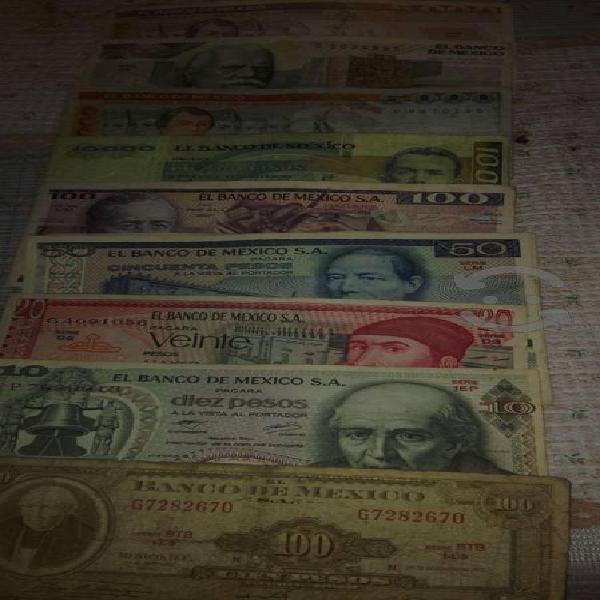 Vendo 11 billetes antiguos