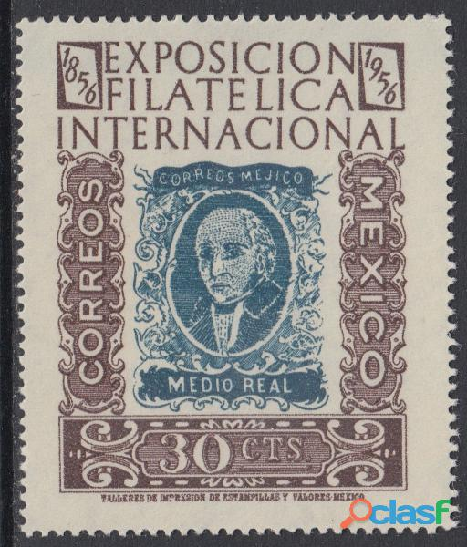 Timbres postales centenario del timbre mexico 1956