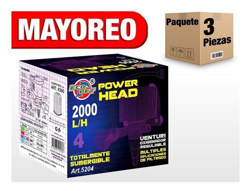 3 pzas cabeza de poder 2000 l/h sumergible 120-200 l art146