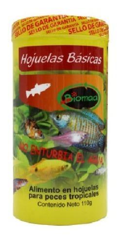 Alimento para peces tropicales hojuelas básicas 110 gramos