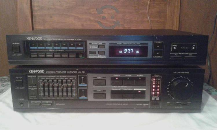 Amplificador y tuner kenwood japones, 100w rms