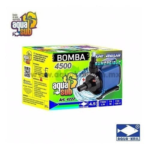 Bomba de agua sumergible 7500 l/h 4.5 m aquakril