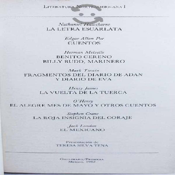 Colección literatura universal norteamericana 1y2