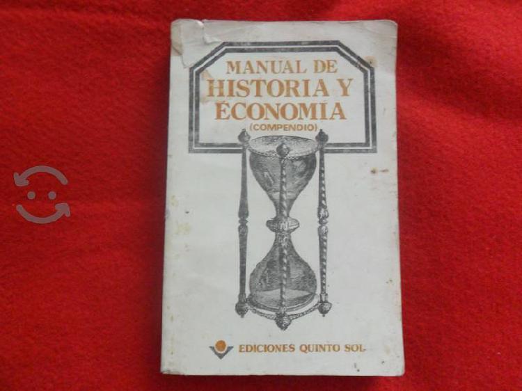 Manual de historia y economia. compendio