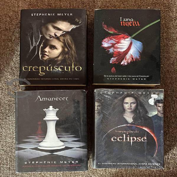 Saga completa de libros crepúsculo