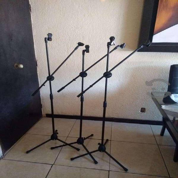 Stand base para dos micrófonos