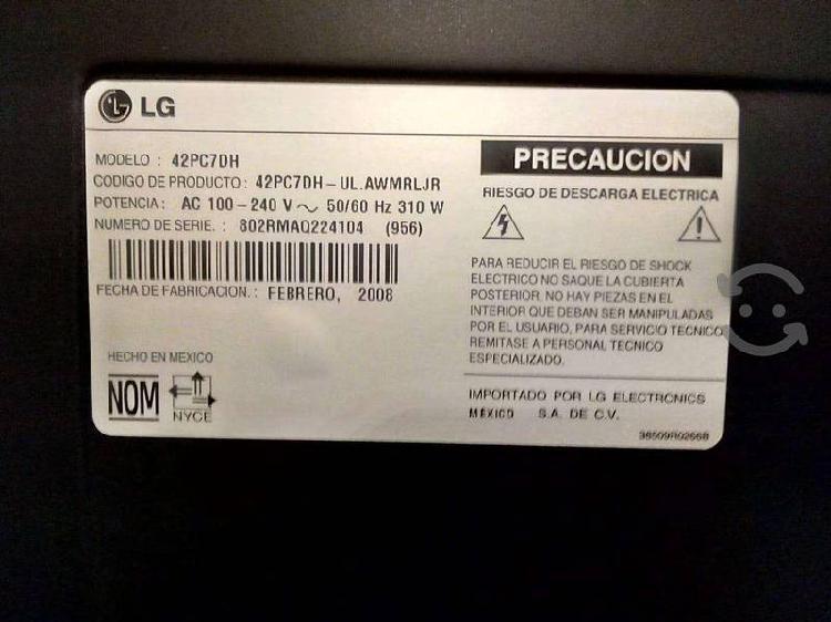 Tv lg plasma para reparar o refacciones