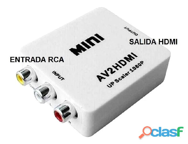 Adaptador y convertidor de rca a hdmi audio video