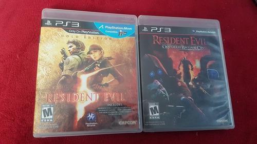 Dos juegos de resident evil ps3