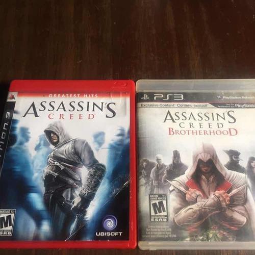 Dos juegos ps3 físicos assassins creed y brotherhood.
