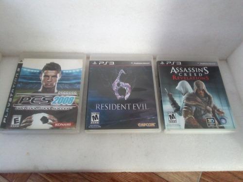 Lote 3 juegos playstation 3 assasins creed resident evil