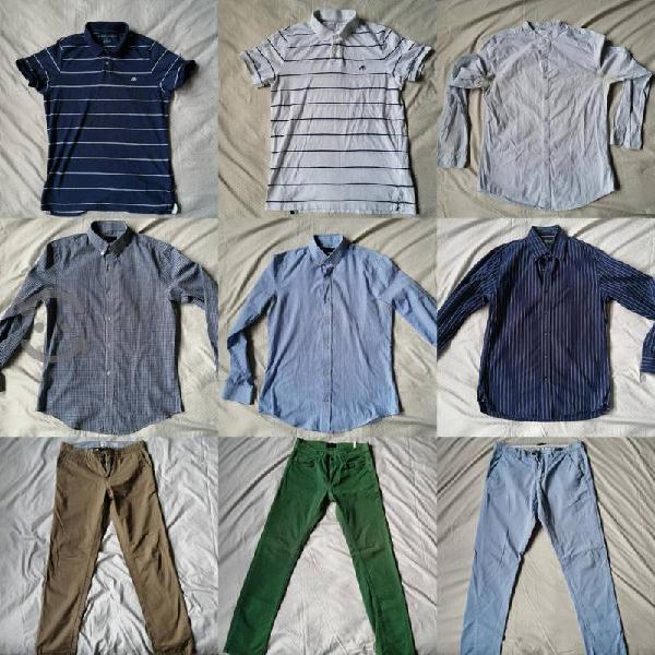 Lote de ropa para hombre 9 prendas