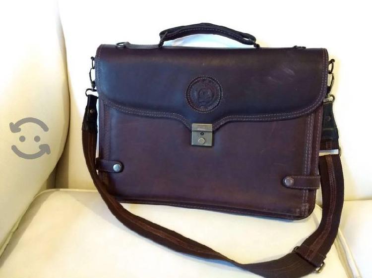 Portafolio/maletín de cuero/forro gamuza.sin usar