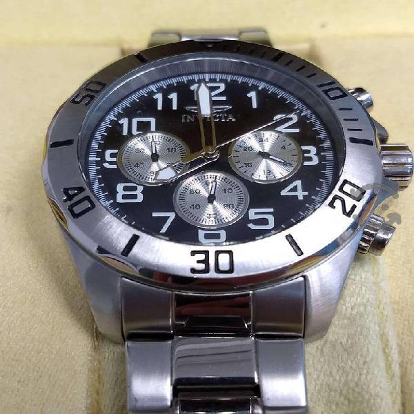 Reloj invicta original, acero inoxidable, grande