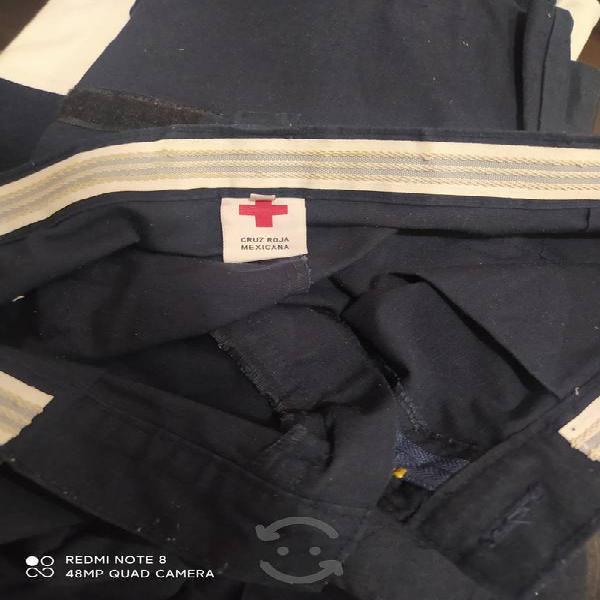Pantalón paramédico cruz roja bolsas táctico cargo