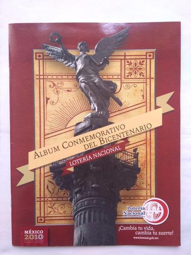 Album conmemorativo bicentenario méxico 2010 lotería