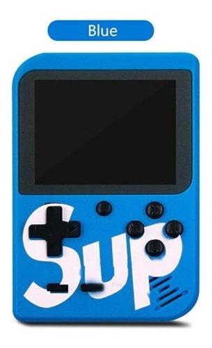 Consola sup portátil y pequeña con 400 videojuegos, azul