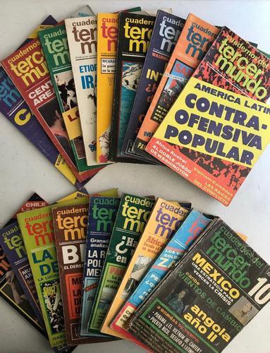 Lote 19 revistas cuadernos del tercer mundo 1977 1978 1979