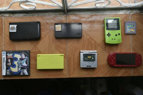 Lote 6 consolas de videojuegos portatiles nds gb sp 3ds psp