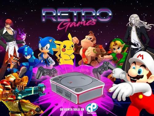 Mini consola juegos pelea retrogames snk ps1 snes retromex