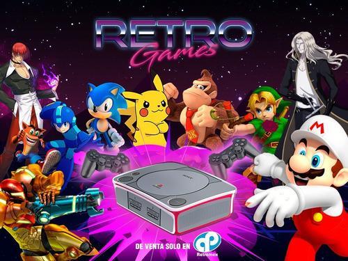 Mini consola videojuegos retro 2 controles ps3 64gb retromex