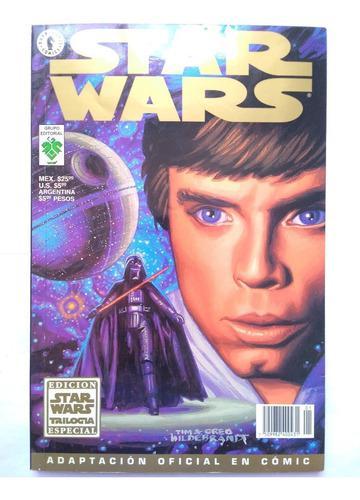 Revista comic trilogía star wars 1997 el regreso del jedi