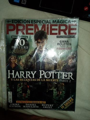 Revista premiere edición especial harry potter