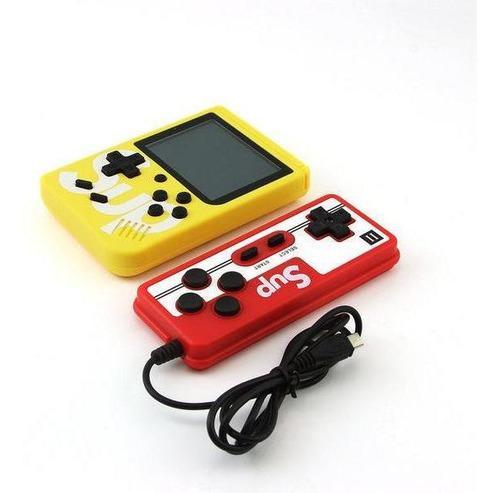 Videojuegos + control sup 400 consola game box amarillo