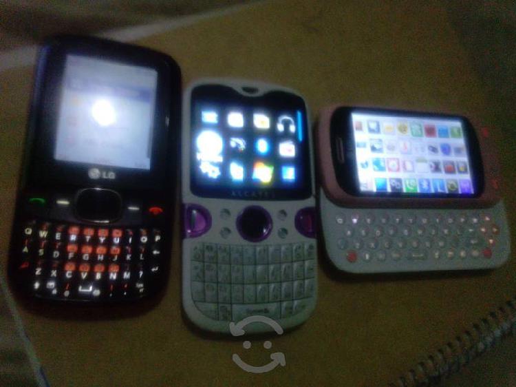 3 celulares telcel funcionando