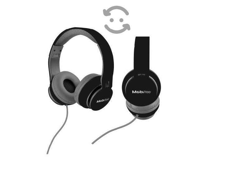 Diadema audífonos micrófono 3.5mm negr mano libre