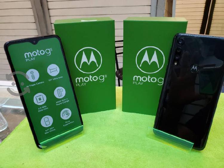 Moto g8 play nuevo con caja y accesorios libre