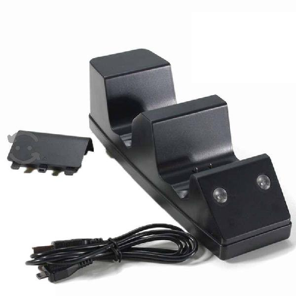 Base cargador controles con batería recargable usb