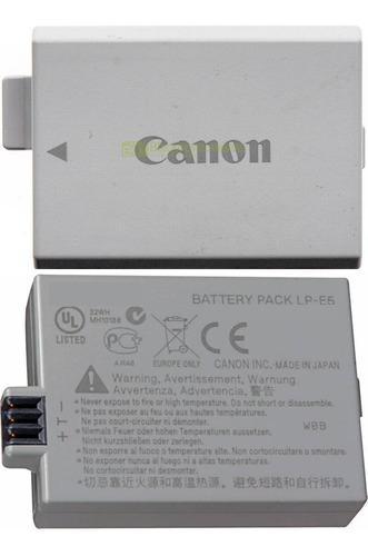Canon original bateria pila usada lp-e5 0t2 p/xsi, xs, 450d