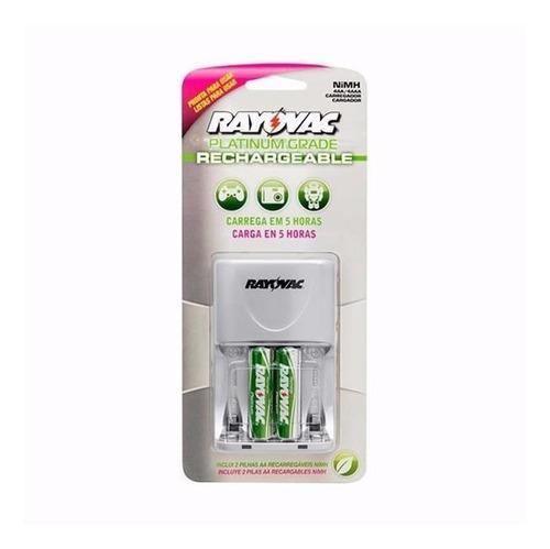 Cargador de baterias aa y aaa - incluye 2 baterias aa nimh