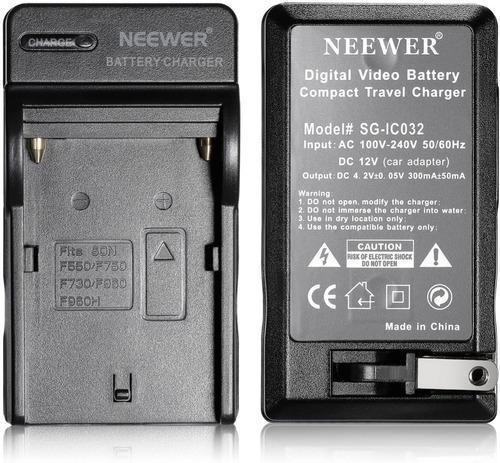 Cargador neewer baterías pila npf 970 550 lámpara led