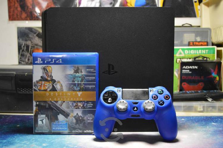 Consola ps4 con 3 juegos + 1 mes psn