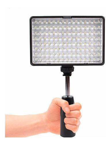 Kit lampara prof. pa video de 120 leds incluye pila cargador