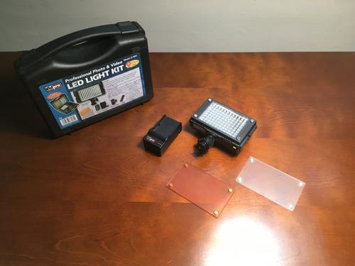 Kit vidpro z-96k luz led portátil video + batería +
