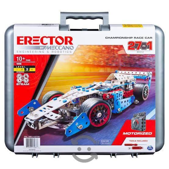 Meccano juego de coches de carreras erector 27 en