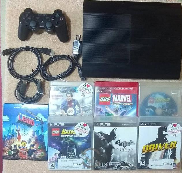 Ps3 super slim de 500 gb
