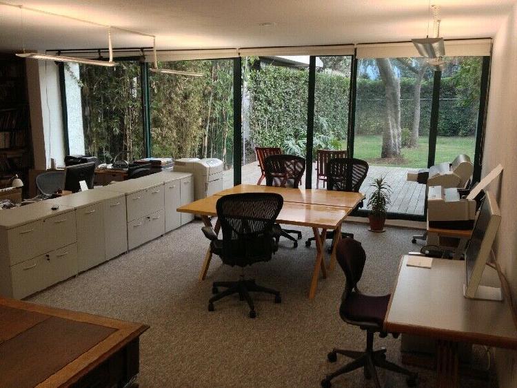 Renta oficina en pb con jardín, coyoacán