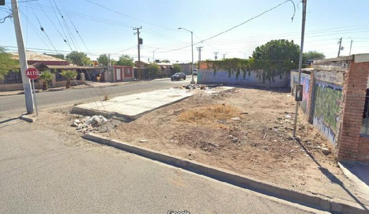 Terreno en esquina col roma pro hogar 240 mts2