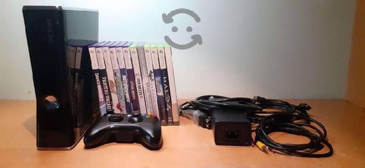 Xbox 360 slim 250 g + kinect + control + 12 juegos