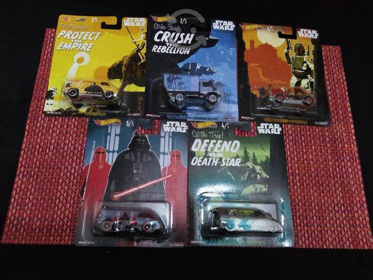 Colección hot wheels llantas de goma star wars