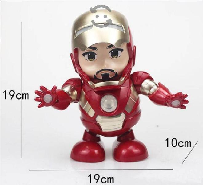 Ironman dance hero 19x19x10cm luz y sonido nuevo