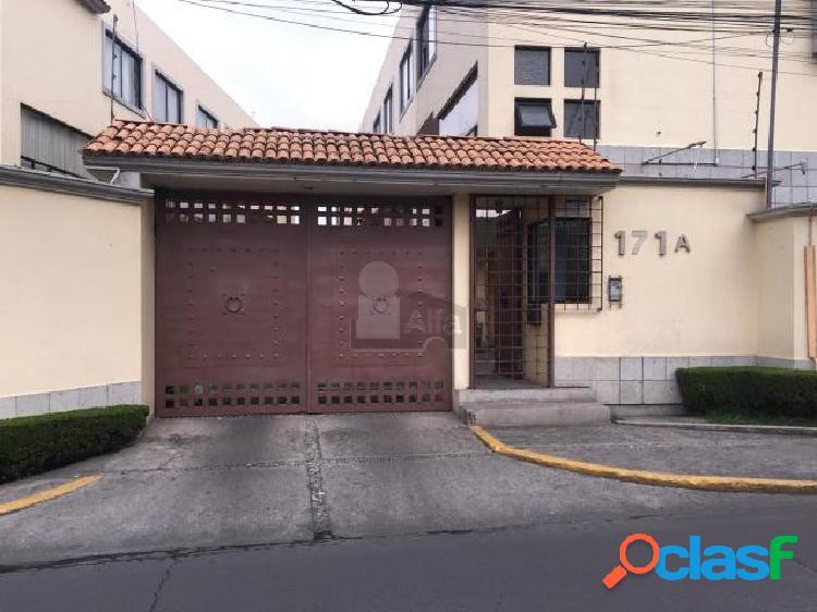 Casa en condominio en renta en coyoacan en col el mirador con 3 recamaras