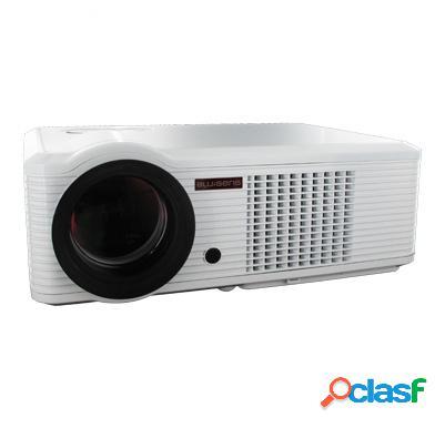 Proyector blusens pjl66 led, con sintonizador tv, vga 640 x 480, 2000 lúmenes, blanco