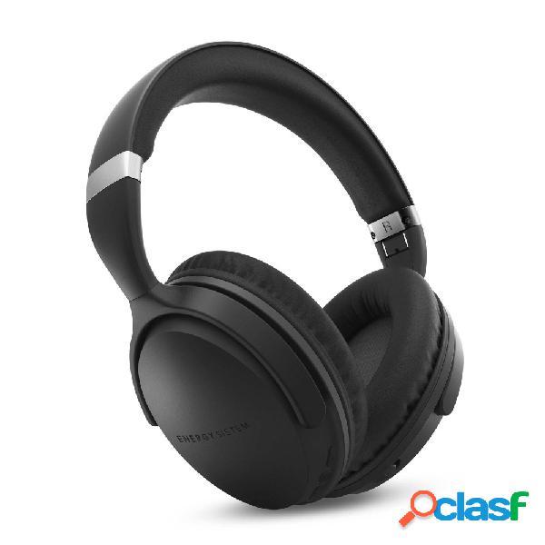 Energy sistem audífonos con micrófono bt travel 7 anc, bluetooth, inalámbrico, usb, negro/gris