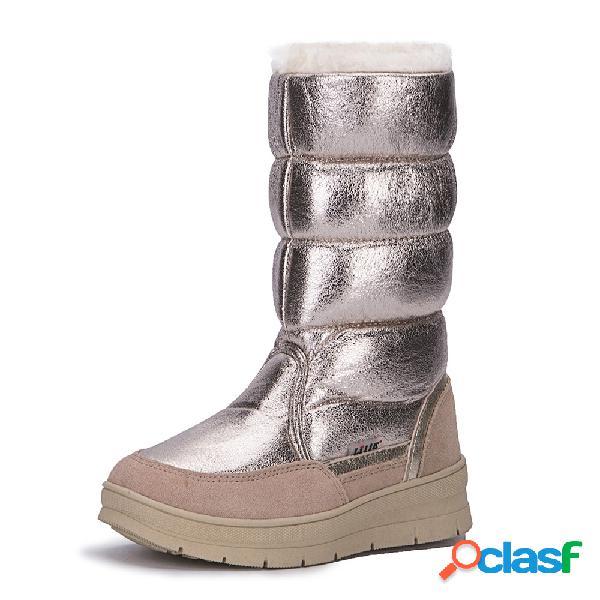 Plataforma metálica a media ternera keep warm plush botas