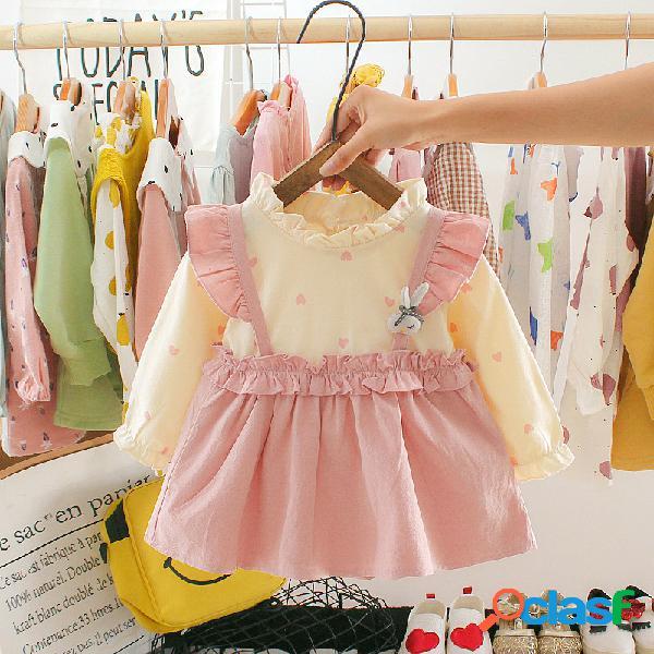 Bebé niña de manga larga princesa vestido